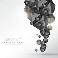 abstrakt svart polyhedronpartiklar bakgrund