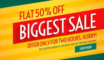biggest sale offers and discount banner template for promotion