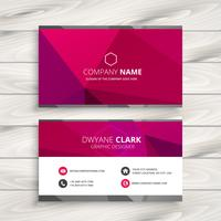 simple pink business card template vector design illustration