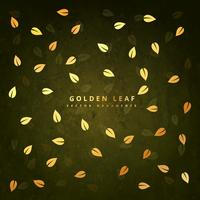 golden green leaf background design illustration