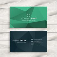 clean low poly business card  template vector design illustratio