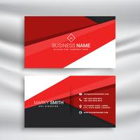 Moderna tarjeta de visita roja y negra con forma geométrica mínima