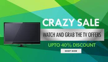 televisie en elektronica verkoop en kortingsbon ontwerptemp