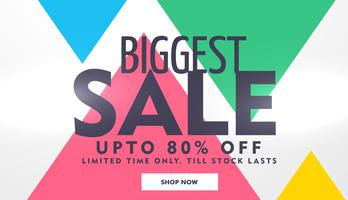 biggest sale banner design with offer details