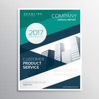 Plantilla de diseño de folleto de folleto de negocio con geometri abstractos