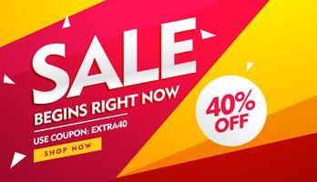 Verkaufsgutschein, Rabatt und bietet Banner-Design