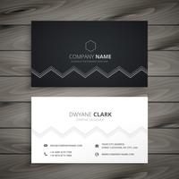 minimal dark business card. Business vector design illustration