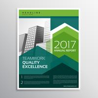 modern green arrow brochure design for your business