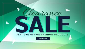clearance försäljning banner med vacker bakgrund