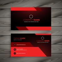red business card template vector design illustration