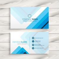 blue stripes business card template vector design illustration