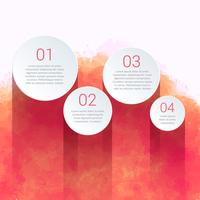 creative infographic made with watercolor