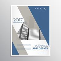 minimale elegante brochure of leaflet sjabloonontwerp met blauw een