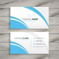 clean blue wave business card. Business vector design illustrati