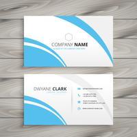 clean blue wave business card. Business vector design illustrati