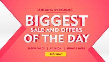 Más grande oferta de banner de venta para promoción de marca