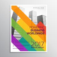 kreativ broschyr eller broschyrmalldesign med färgstarka remsor