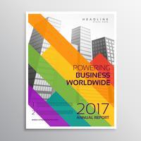 Diseño creativo de la plantilla del folleto o del folleto con la tira colorida