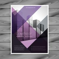 paarse brochure ontwerpsjabloon voor uw merk