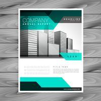 conception de modèle de société élégante dépliant entreprise brochure vecteur