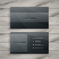 dark business card template vector design illustration