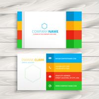 modern corporate business card template vector design illustrati