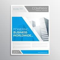 stylish blue and gray business brochure template design