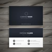 clean dark business card. Business vector design illustration