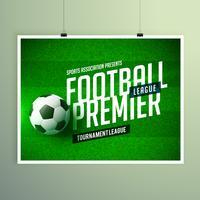 futebol futebol campeonato apresentação folheto