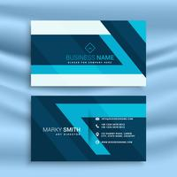 blue abstract business card id template