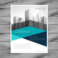 creative geometric business brochure vector design template