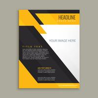 yellow and black business brochure poster