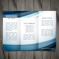 vector wave trifold brochure design illustration