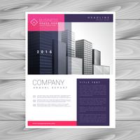 trendy magazine layout brochure flyer design A4 template vector
