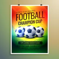geweldige voetbalachtergrond voor gebeurtenisvlieger en uitnodiging