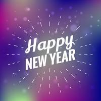 hermosa tarjeta de feliz año nuevo