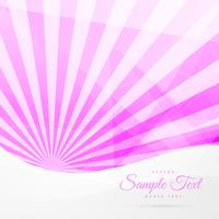 pink rays background with white wave