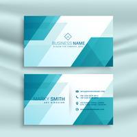 modernt blått och vitt visitkortdesign mall