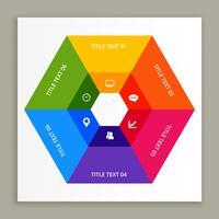 Infografik-Design mit hellen Farben