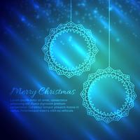 merry christmas design in shiny background
