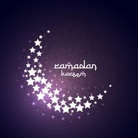 luna creciente hecha con estrellas