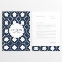 abstract letterhead pattern template
