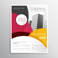 moderne Unternehmensbroschüre oder Faltblattvorlagendesign mit Zusammenfassung