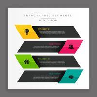 banners infográficos de negócios escuros