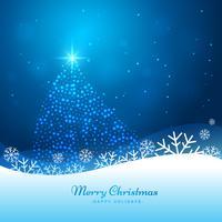 julgran i glödande bakgrund