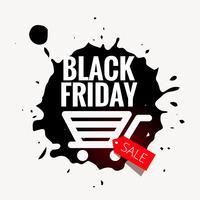 Diseño de venta de viernes negro en estilo grunge