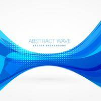 abstract blue wave vector design illustration
