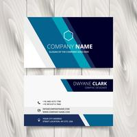 stylish blue stripe vector business card design