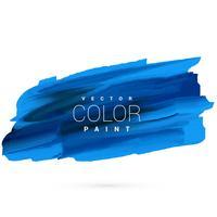 disegno vettoriale di vernice macchia blu mano