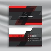 Diseño de plantilla de tarjeta de visita roja y negra en estilo abstracto